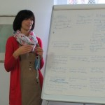 Olivia Schubert, stellvertretende Vorsitzende der LdU / Schubert Olívia, az MNOÖ elnökhelyettese