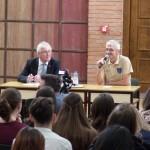 Ritter Imre és Manz Alfréd a beszélgetésen / Emmerich Ritter und Alfred Manz in der Diskussionsrunde