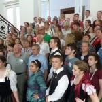 A bajai Városházán köszöntötték a világtalálkozó résztvevőit / Die TeilnehmerInnen des Welttreffens wurden im Rathaus von Baje empfangen