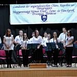 Die  Jugendblaskapelle Petschwar mit ihrem Dirigenten József Wagner