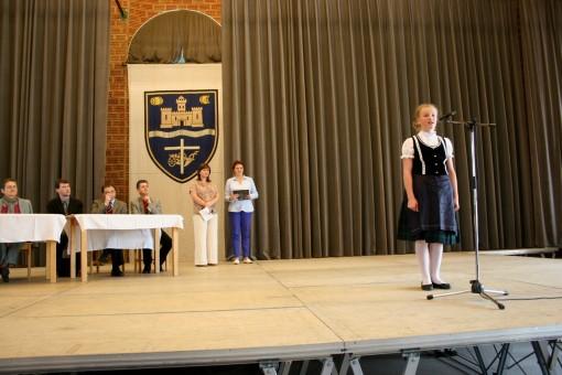 Horváth Petra, a budaörsi Mindszenty József Római Katolikus Általános Iskola diákja, az irodalmi német (7-8. osztályosok) kategória győztese