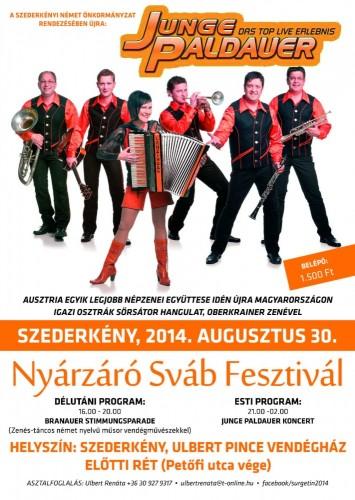 Plakat Schwabenfest 2014