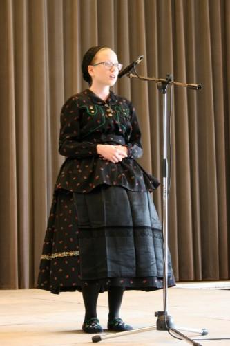 Schauer Sára, a bajai Magyarországi Németek Általános Művelődési Központja diákja, a nyelvjárás (9-12. osztályosok) kategória győztese
