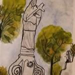 Die Zeichnung fertigte Hanga Tőkés, Zweitklässlerin der Mátyás Király Grundschule in Tschemer, an.