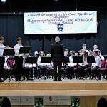 Die Bläserjugend des Musikvereins Wetschesch mit ihrem Dirigenten Imre Szabó