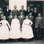 """Bence Kovács: """"Kirchweihmensche"""" in Perin (1932) (Deutscher Kalender-Sonderpreis / Deutscher Kalender-különdíj)"""