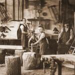 Gábor Baráth: Schwäbische Stellmacherwerkstatt in Mohatsch (Hauptrpreis Archivbild / Archív fotó kategória fődíja)