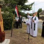 Az új emlékmű felszentelése / Einweihung des neuen Denkmals (Fotó: kornye.hu)