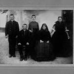 Alfred Manz: Familie Tittl aus Hodschag/Hódság in der Südbatschka, 1908