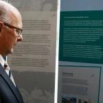 """Die Wanderausstellung """"In zwei Welten – 25 Deutsche Geschichten, Deutsche Minderheiten stellen sich vor"""" in das Foyer im SMI (Foto: Sächsisches Staatsministerium des Innern)"""