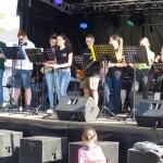 Die Internatband auf dem Weinfest in Hassloch